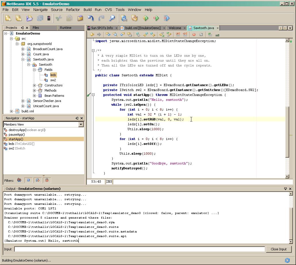 Sun spot emulator tutorial click here baditri Gallery